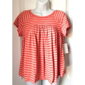 5 FOR $20 - Free People Striped Short Sleeve Tee